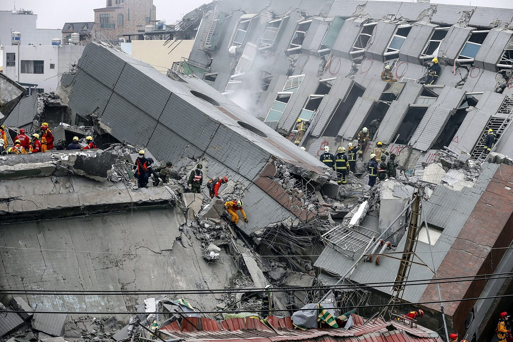 Emergency Frequencies -14 dead after magnitude-6.4 earthquake shocks Taiwan