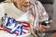 N3MB – Ham radio enthusiast Holly Bevan celebrates 100th birthday