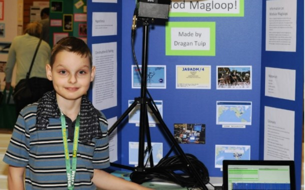 KG7OQT – Young Ham Wins First-Place Science Fair Trophy with Mag Loop Antenna Entry