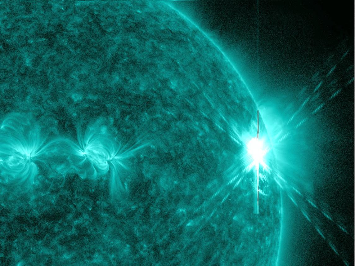 Strong Solar Flare From Sun's Heart-Shaped Sunspot Temporarily Disrupts Radio Communications
