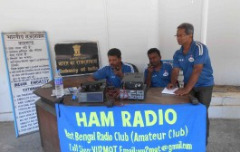 Ham radio communication in shadow zone polling booths