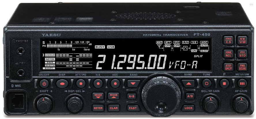 Yaesu FT-450 HF and 6 Meter – QST – ARRL Product Review