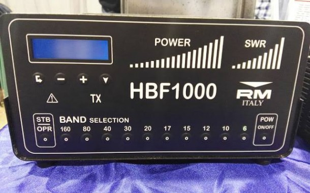 RM Italy BLA 600 HF/6M 500 Watts Amp & HBF 1000 1KW HF/6M Low Pass Filter in the Dayton 2016