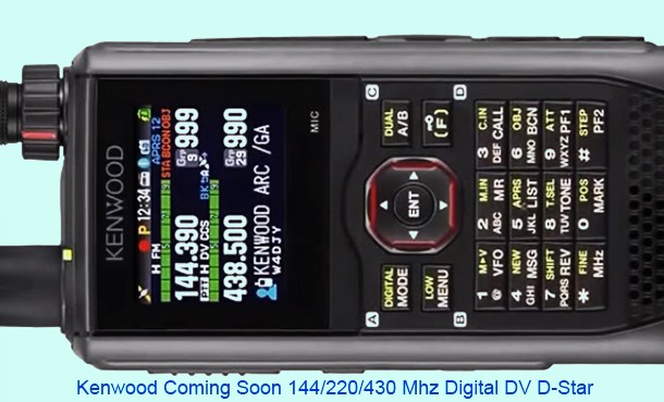 Preview unit Kenwood D-Star / digital / APRS HT [ Video ]