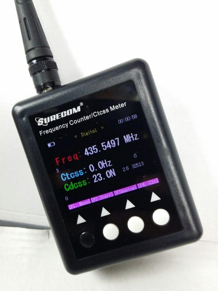 Sound Frequency Counter Handheld : Surecom sf plus frequency counter ctcss decoder qrz