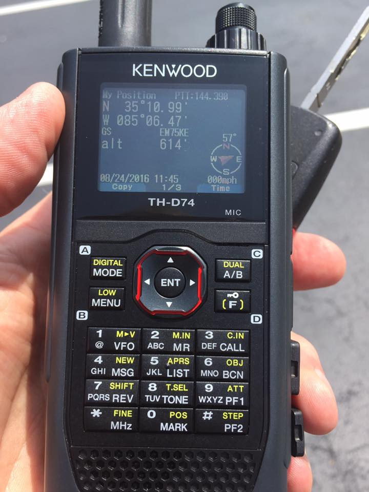 Kenwood TH-D74  [ APRS SETUP ]