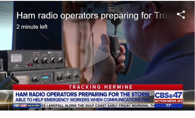 Amateur radio operators prepare for Tropical Storm Hermine