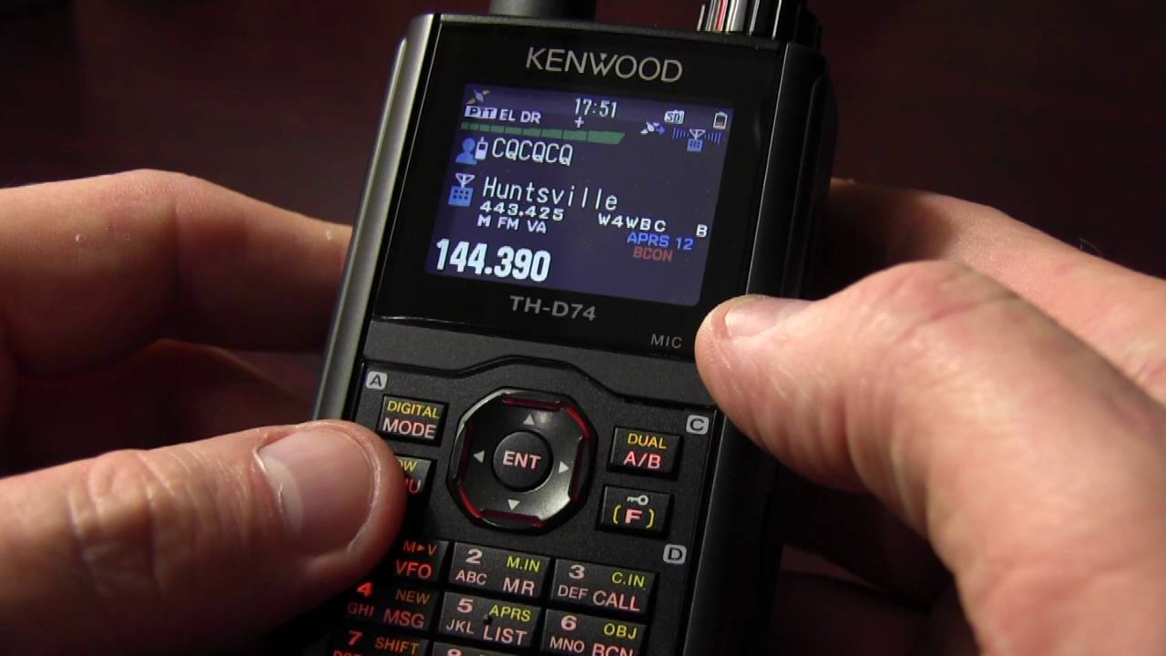 Kenwood TH-D74 – RX in 7MHz SSB Video
