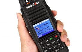 Radioddity GD-55 UHF Waterproof DMR Digital Radio, with GPS Function! 10W with 2800mAh Lithium Polymer (Li-Po) Battery