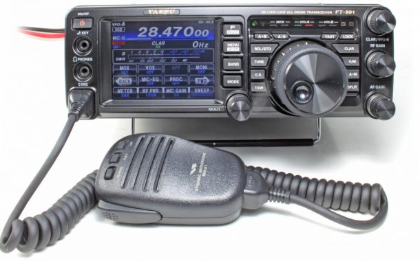 YAESU FT-991A Colour Screen and Waterfall Demonstration