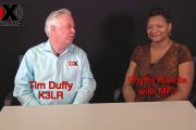 Phyllis Randle from MFJ is interviewed by Tim Duffy, K3LR