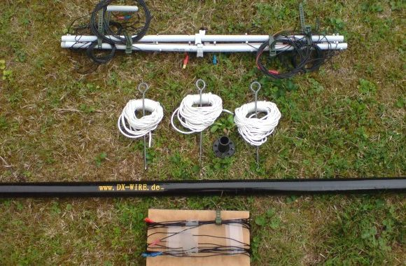 MULTIBAND H-POLE – VERTICAL WIRE ANTENNA FOR 160m – 10m by HB9MTN