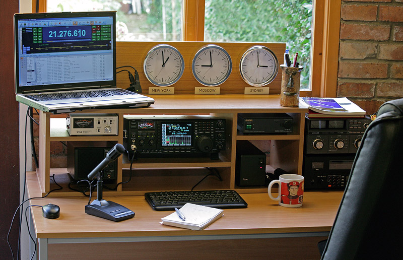 Ham Radio Basics–Jim, W6LG Sets Up a Basic Ham Radio Station