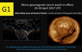 Geomagnetic Storm Watch Remains in Effect