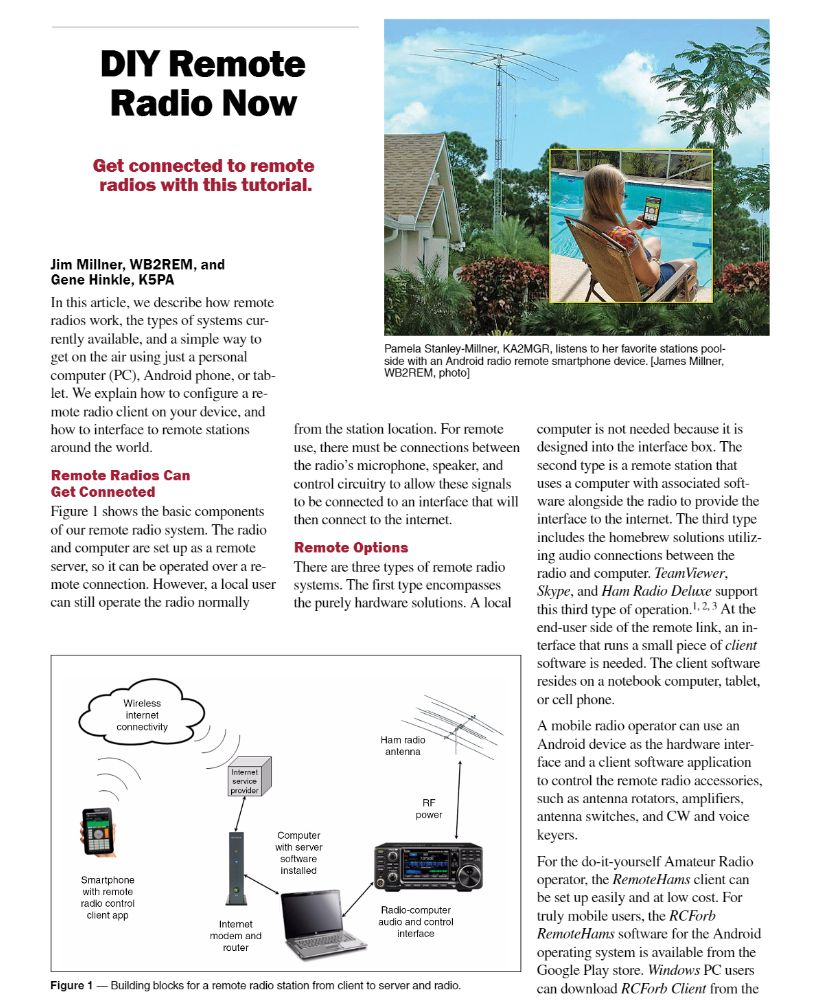 DIY Remote Radio Now – Win the April 2017 QST Cover Plaque Award