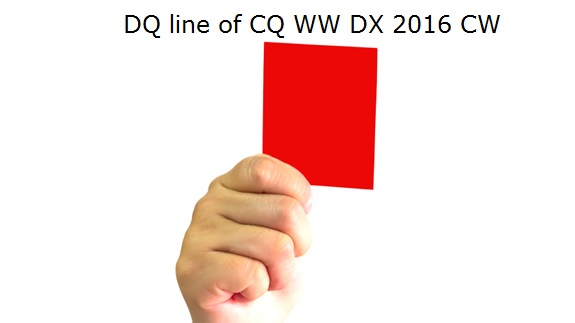 2016 CQ WW CW Disqualification List