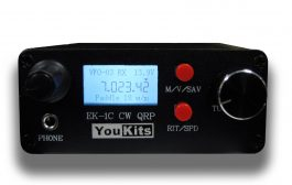 EK1C 3 band QRP CW transceiver for 20, 30, 40 meters