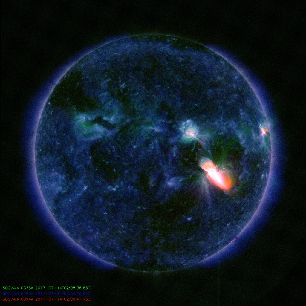 A CME IS COMING: Huge sunspot AR2665 exploded on July 14th