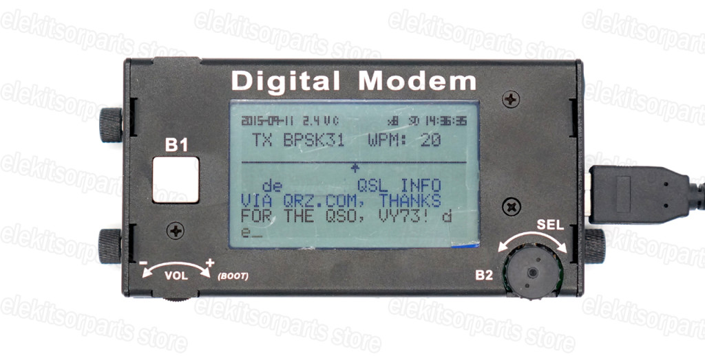 Ultra Portable PSK31/RTTY Digital Modem Ham Radio HF Digital Modem