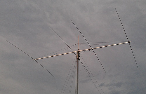 A 4 element OWA Yagi for 14MHz with a 9.828mtr boom