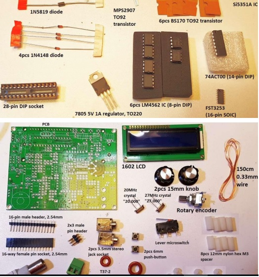 5W CW Transceiver kit assembly instructions - QRP Labs