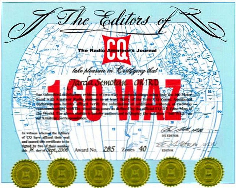 Logbook of the World to Add Support for CQ WAZ Award
