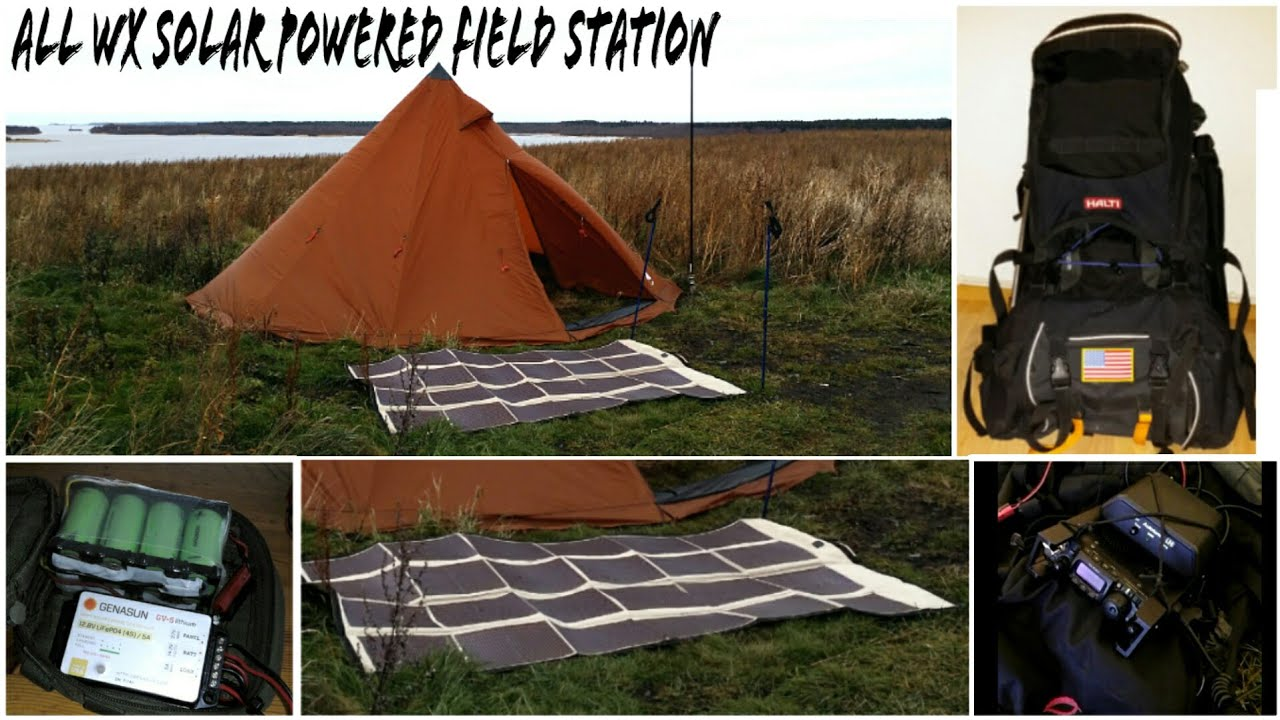 All WX Solar Powered Amateur Radio Field Station Update 01
