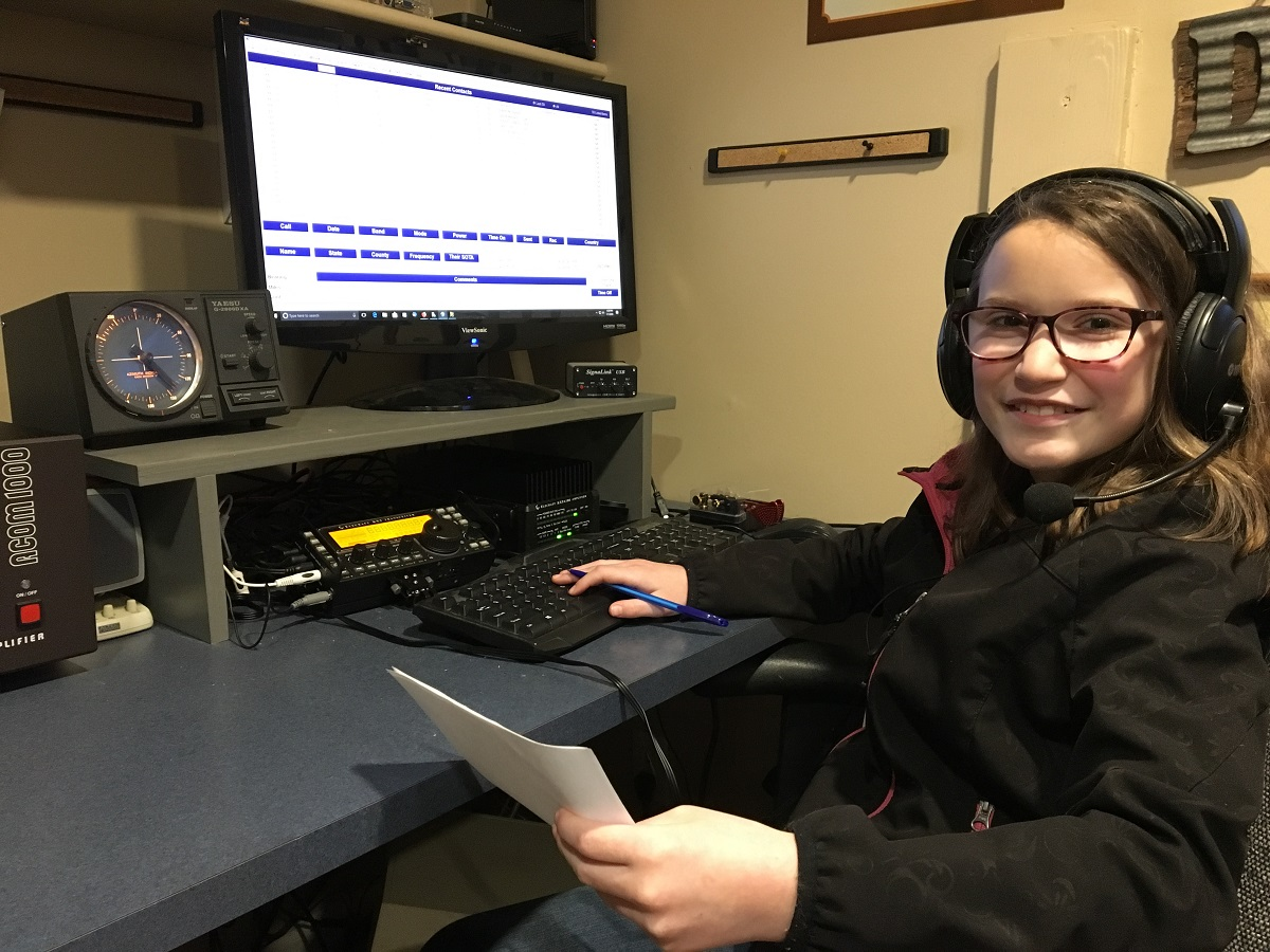 Young Washington Radio Amateur Debuts Her Call Sign on HF, Hands Out Her Grid Square on Opening Day