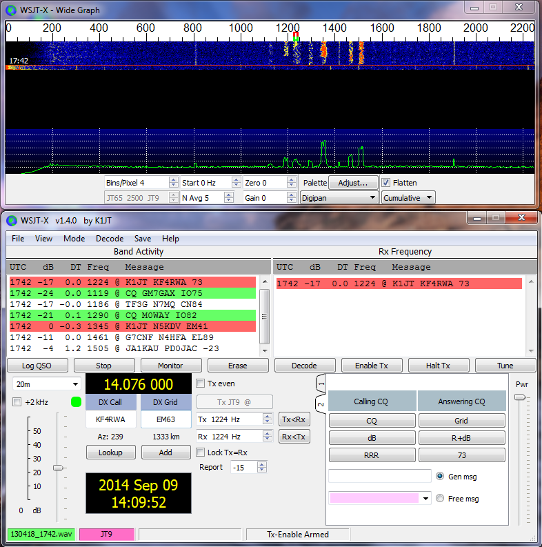 WSJT-X Version 1.9.0-rc2