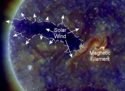 A Bright Region Fizzles & A Dark Hole Looms: Solar Storm Forecast 04-05-2018