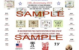 13 Colonies Special Event to Mark 10th Anniversary this Year