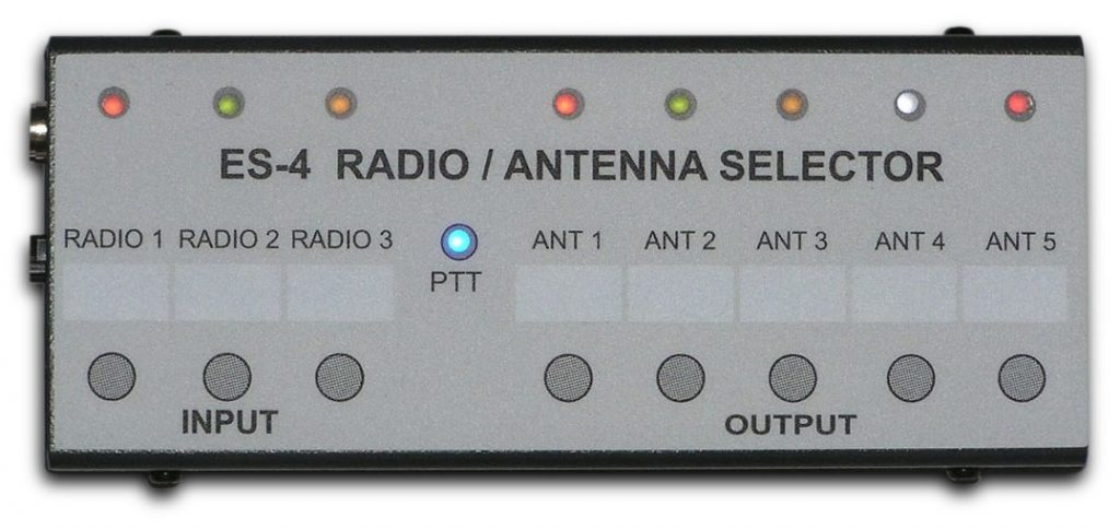 ES-4 Radio / Antenna Selector Switch between 3 radios and 5 antennas