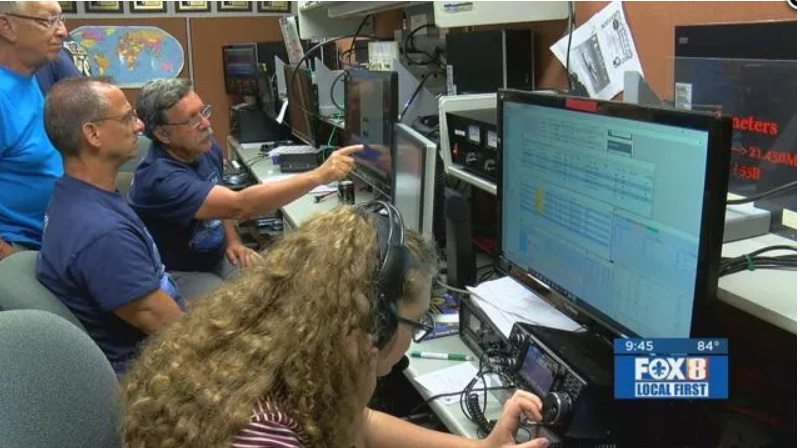 Amateur radio operators keep communication lines open during disaster