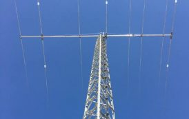 JK2040-Hawk – Yagi antenna of 5 elements for the 20 m band and 3 elements for the 40 m band on a 40 foot (12.19 m) boom