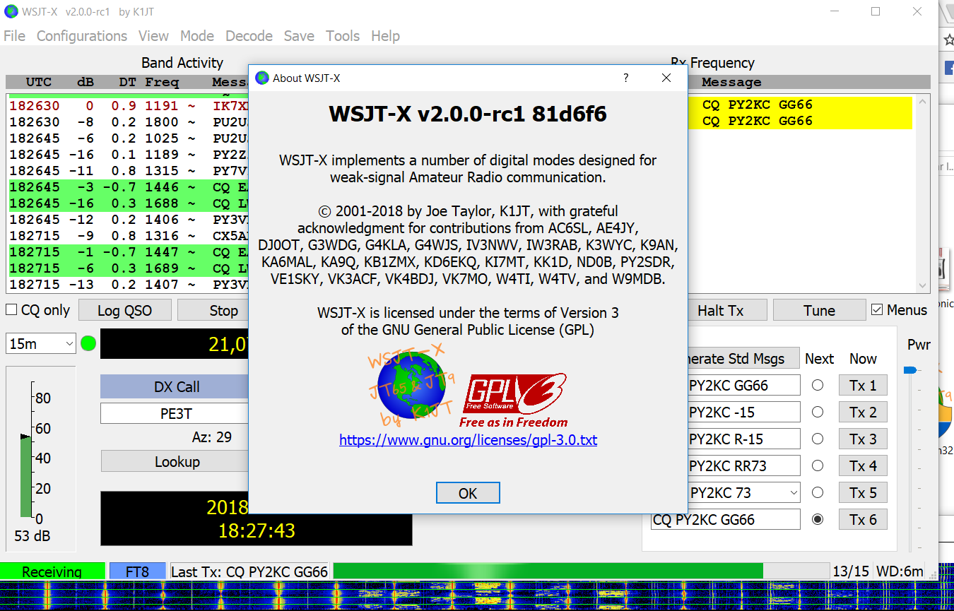 WSJT-X Version 2 0 0-rc1 Released - Download FT8