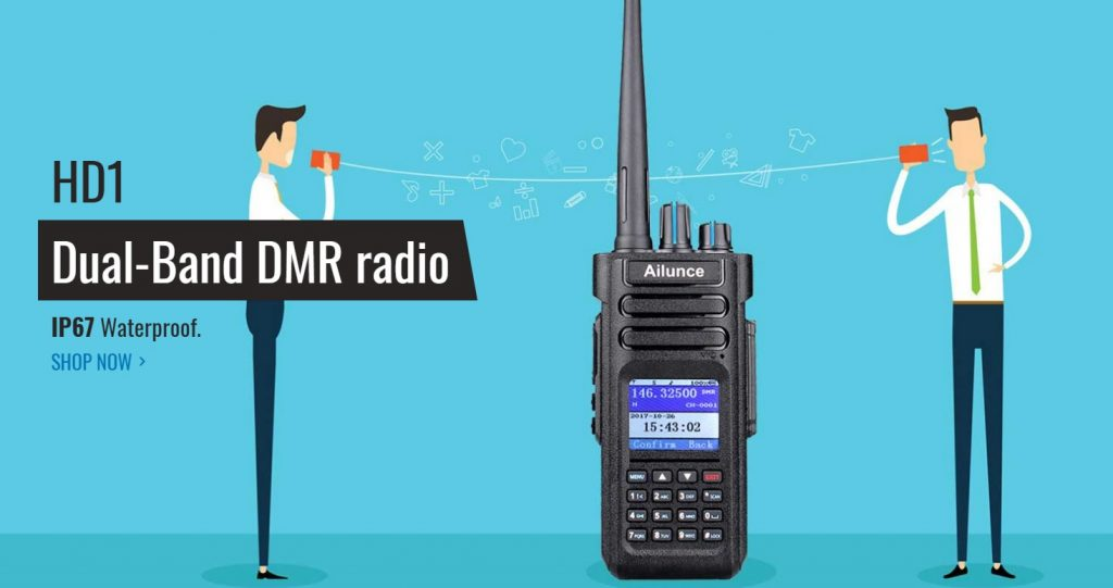 Retevis Ailunce HD1 GPS dual band 2m 70cm DMR [ Review and