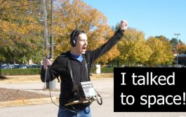 I talked to space! NA1SS  QSO  KG5AKV
