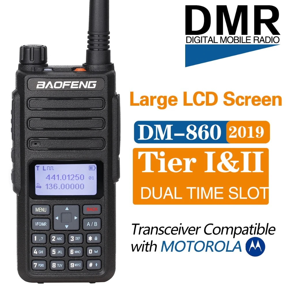Baofeng DM-1801 digital dual-channel walkie-talkie DMR Tier1 Tier2 Tier II Dual time slot digital radio Compatible with Motorola DM-860