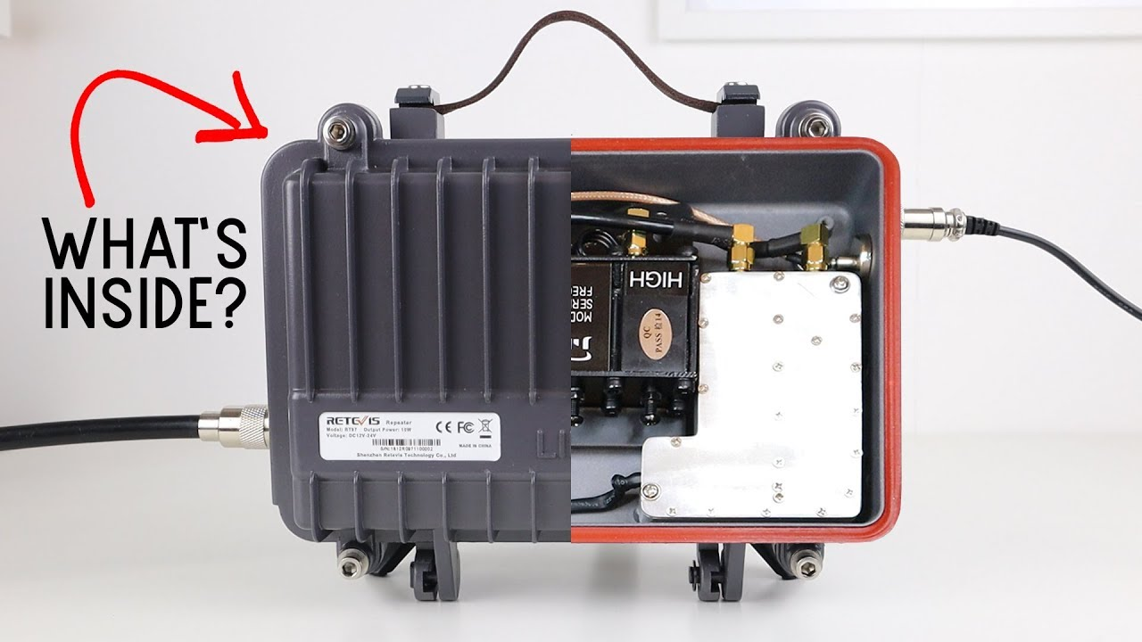 What's Inside The Retevis RT97 Portable Repeater?!