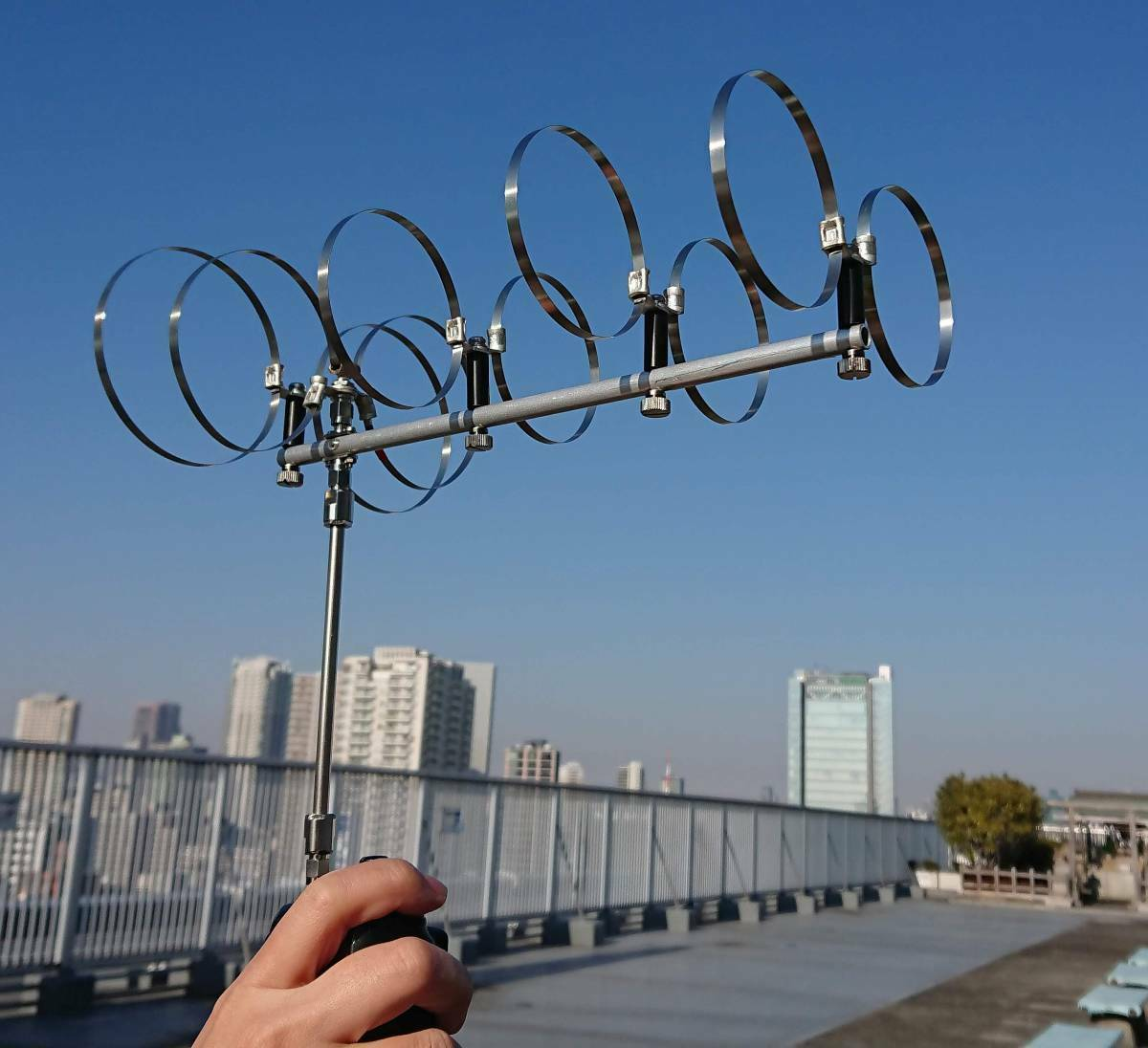 Handy 5 Elements 1200 Mhz Twin Loop Portable Antenna