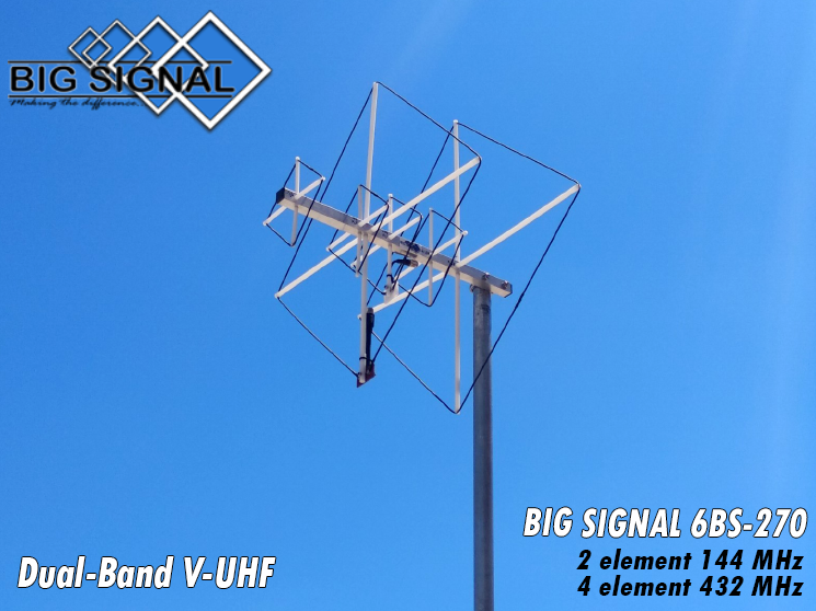Dual-band V-UHF Quad Antennas