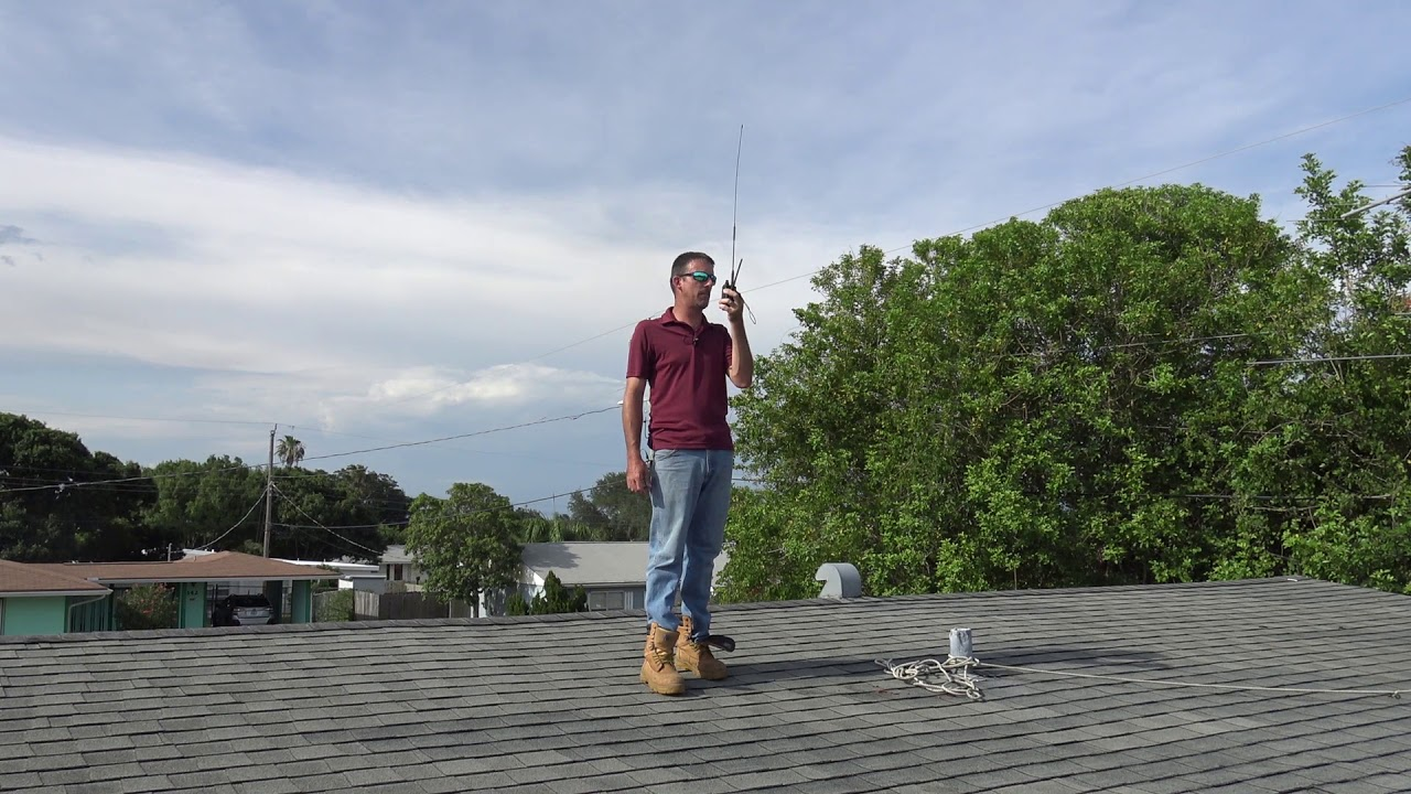 Ham Radio HT Antenna Range Test, Diamond SRH770S
