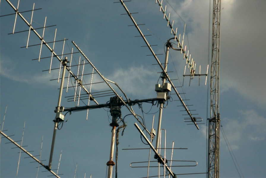 Amateur radio satellite antennas