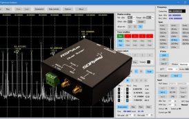 V1.0b of the Spectrum Analyser software developed by Steve Andrew specifically for the RSP line of products
