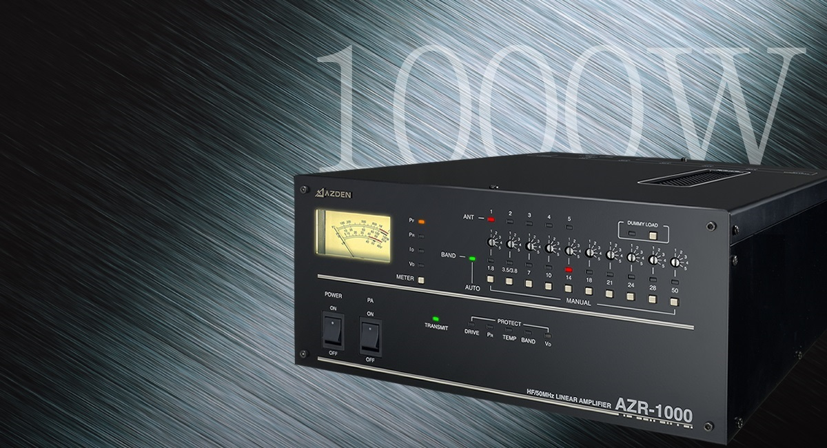 Japan's smallest and lightest 1KW linear amplifier – AZR-1000