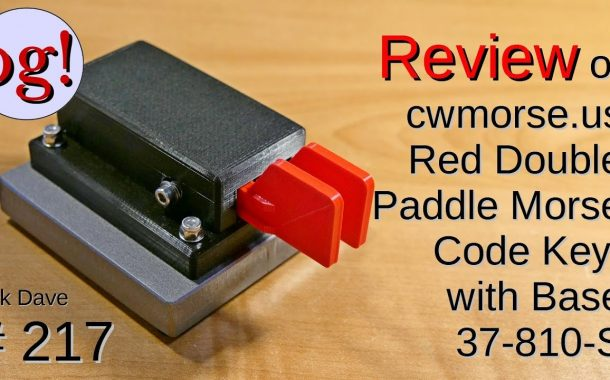 Review of CW Morse Paddles with weighted base