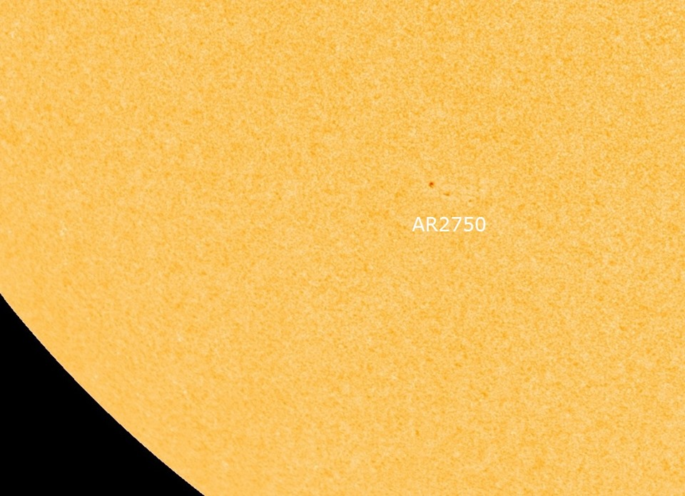 The small new sunspot belonging to Solar Cycle 25