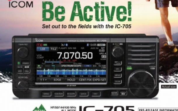 IC-705 QRP SDR Transceiver Update, Available in Japan around April 2020