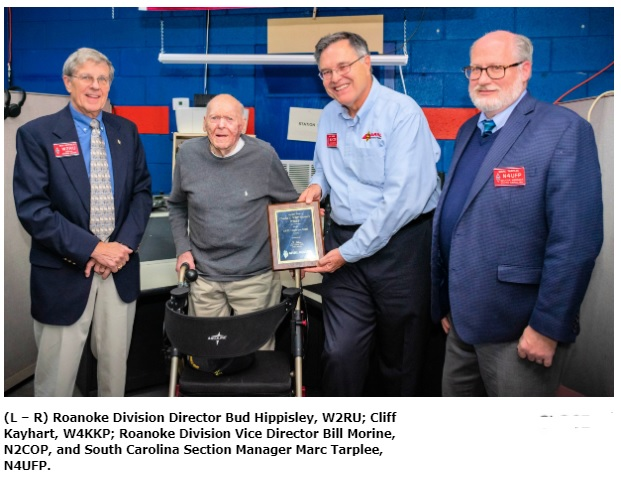 Oldest Known US Ham Receives ARRL Centurion Award