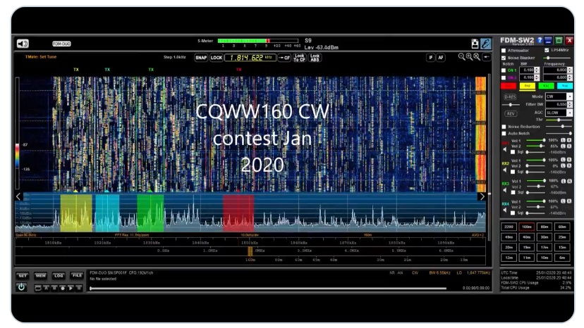 30s snapshot of the CQWW 160 contest [ VIDEO ]